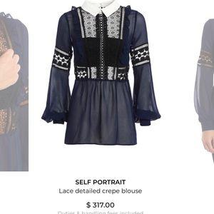 Self portrait blouse